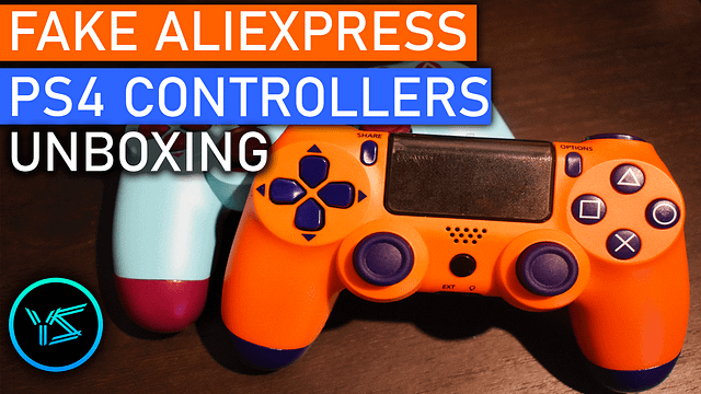 Fake AliExpress PS4 Controller Unboxing and First Impressions
