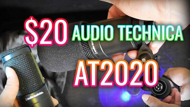 $20 Audio Technica AT2020 XLR With Recording Sample