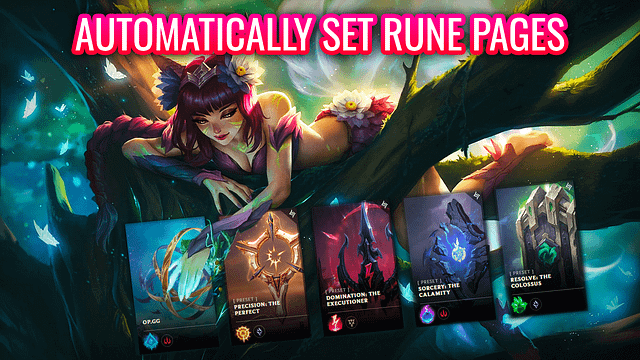 Automatically Set Rune Pages In League of Legends