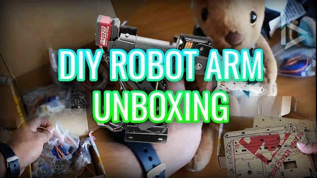 DIY ROBOT ARM KIT UNBOXING